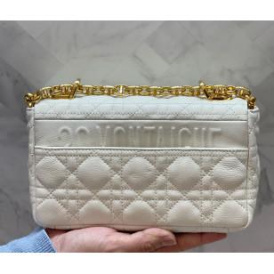 Dior Small Caro Bag - Ivory Supple Cannage Calfskin 85折