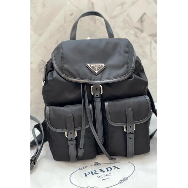 Prada 尼龍索帶背包 Backpack - 黑色