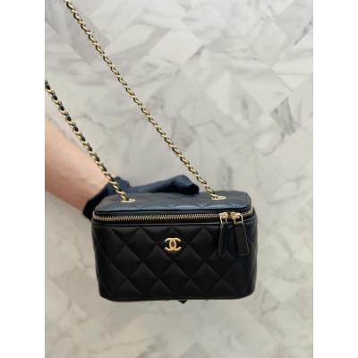 Chanel Vanity Case - 金球款 17CM