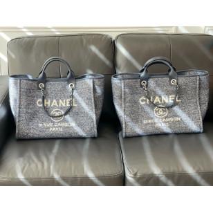 Chanel Mixed Fibers Large Tote - Navy Blue 布袋 A66941 B06387 NE267