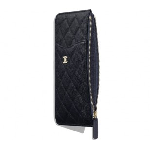 Chanel Classic Phone Case - 牛皮深藍色