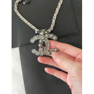 Chanel 編織拼鏈頸鍊 - 黑銀色 A96774 Y49108 Z5113
