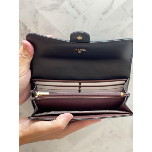 Chanel Classic Flap Wallet 長錢夾 - 羊皮黑色