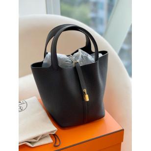 Hermes Picotin 22 Bag - Noir 黑色金扣