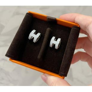 Hermes Pop H 耳環 銀
