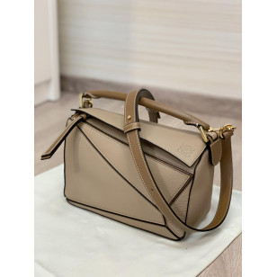 LOEWE SMALL PUZZLE BAG - SAND/MINK COLOR